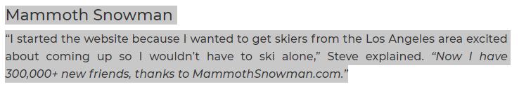 Mammoth Snowman Why
