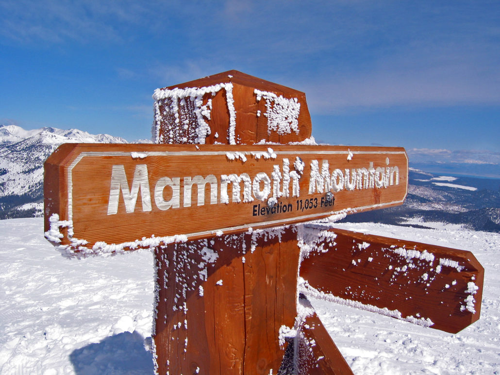 The Mammoth Mountain Sign at 11,053 Feet