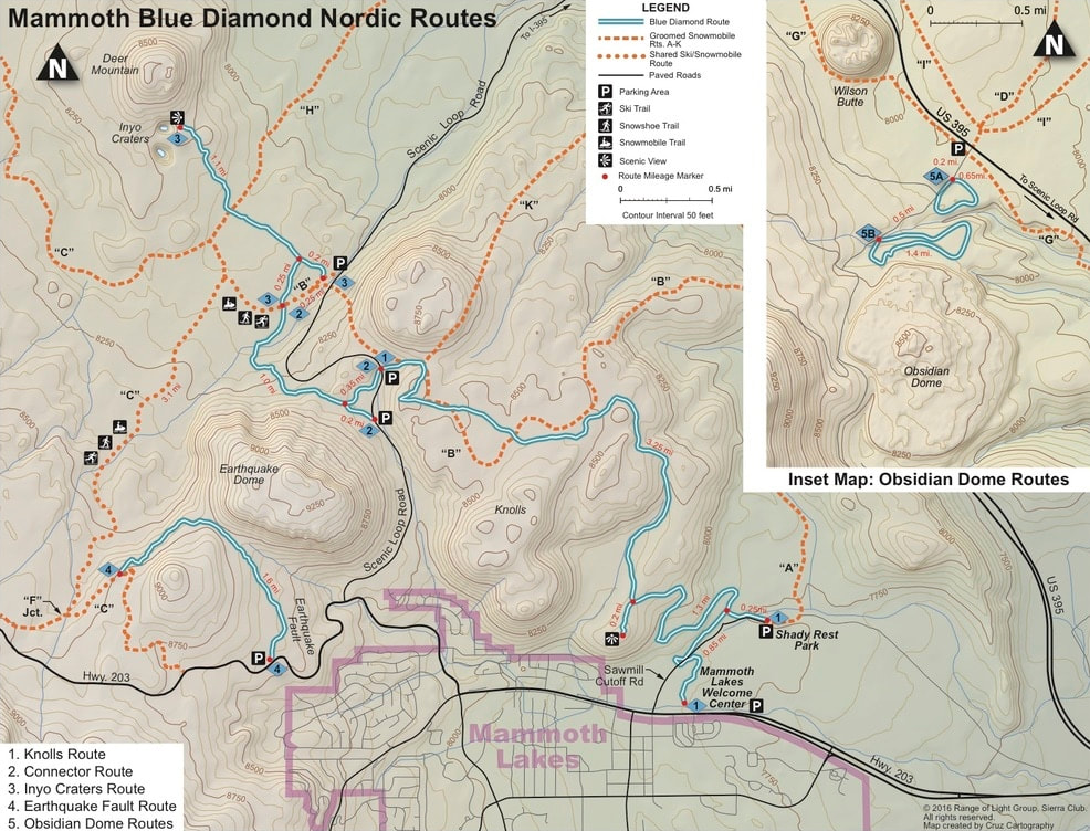 Mammoth Lakes Blue Diamond Cross Country Ski Trails