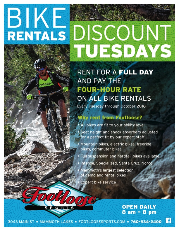 Discount Tuesdays at Footloose Sports