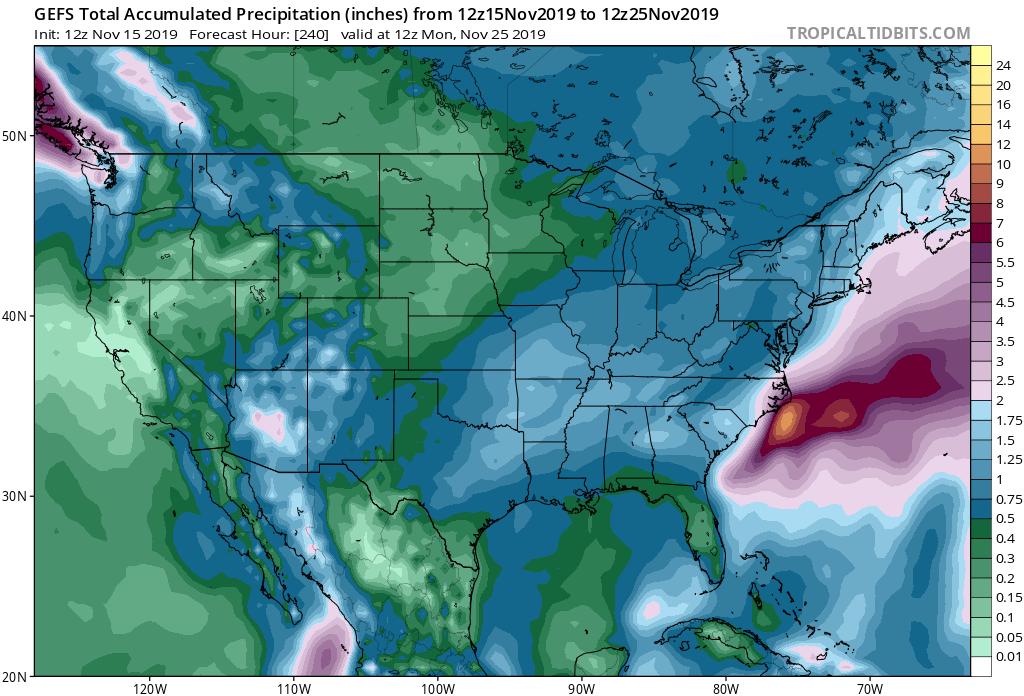 GFS Ensemble Precipitation Outlook