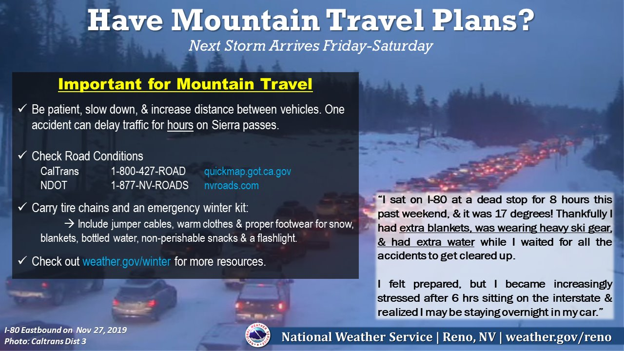 Time to travel with your Winter Travel Kit - NWS Reno