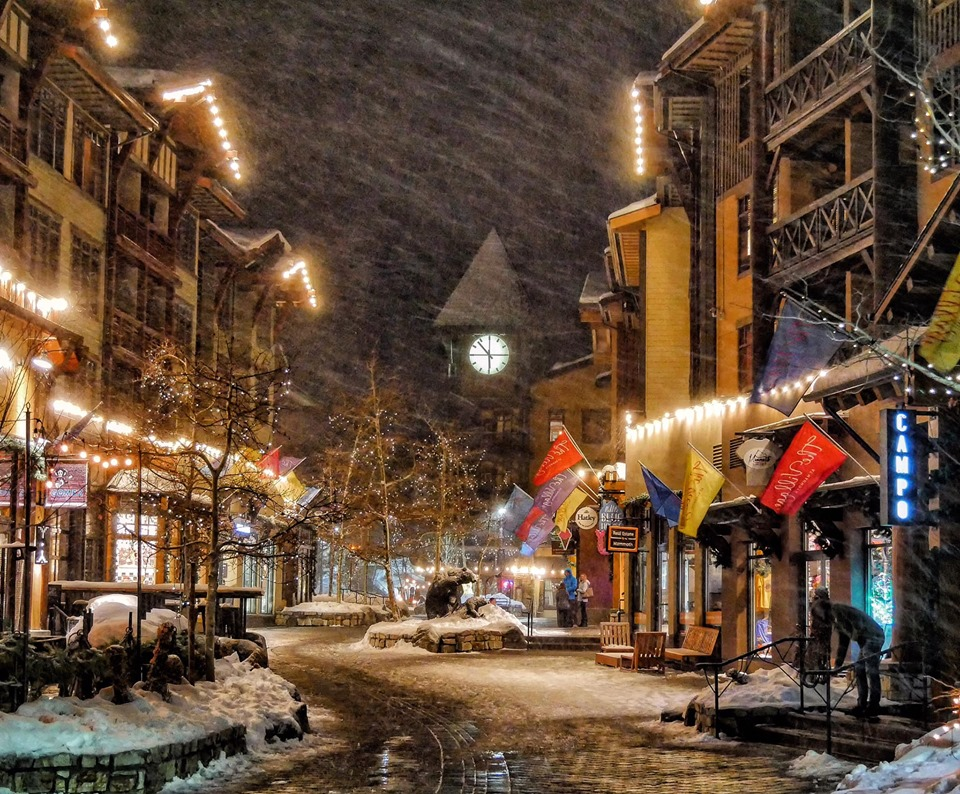 Snowing in the Village at Mammoth on 12-7-2019 Photo by Rob Kral