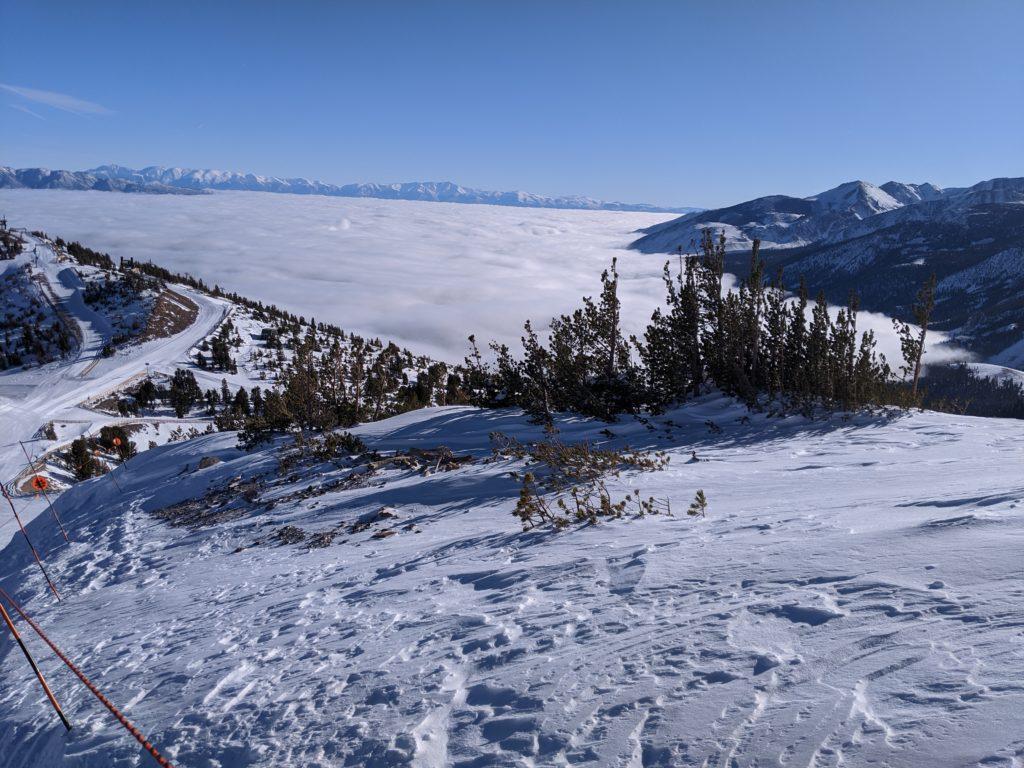 Clouds below Mammoth Mountain