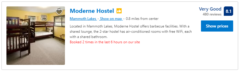 Modern Hostel Mammoth Lakes
