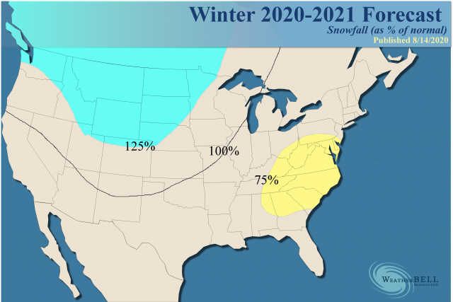 Weather Bell Winter Outlook 2021