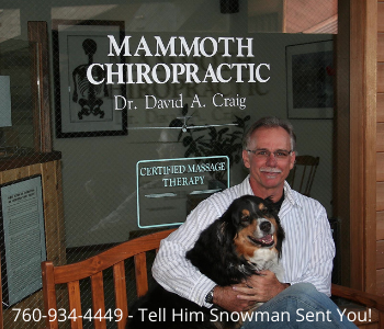 Mammoth Chiropractic - 760-934-4449 - Tell Him Snowman Sent You