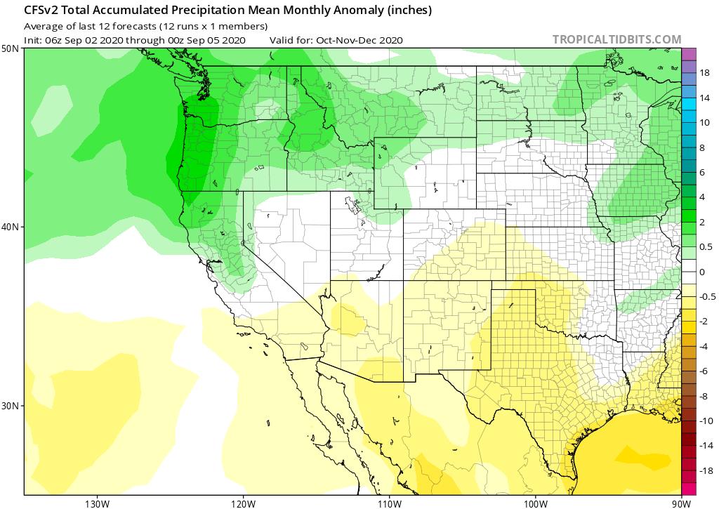 CFSv2 Total Accumulated Precipitation