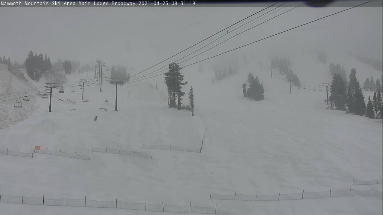 Mammoth Mountain Snow Report 4-25-2021