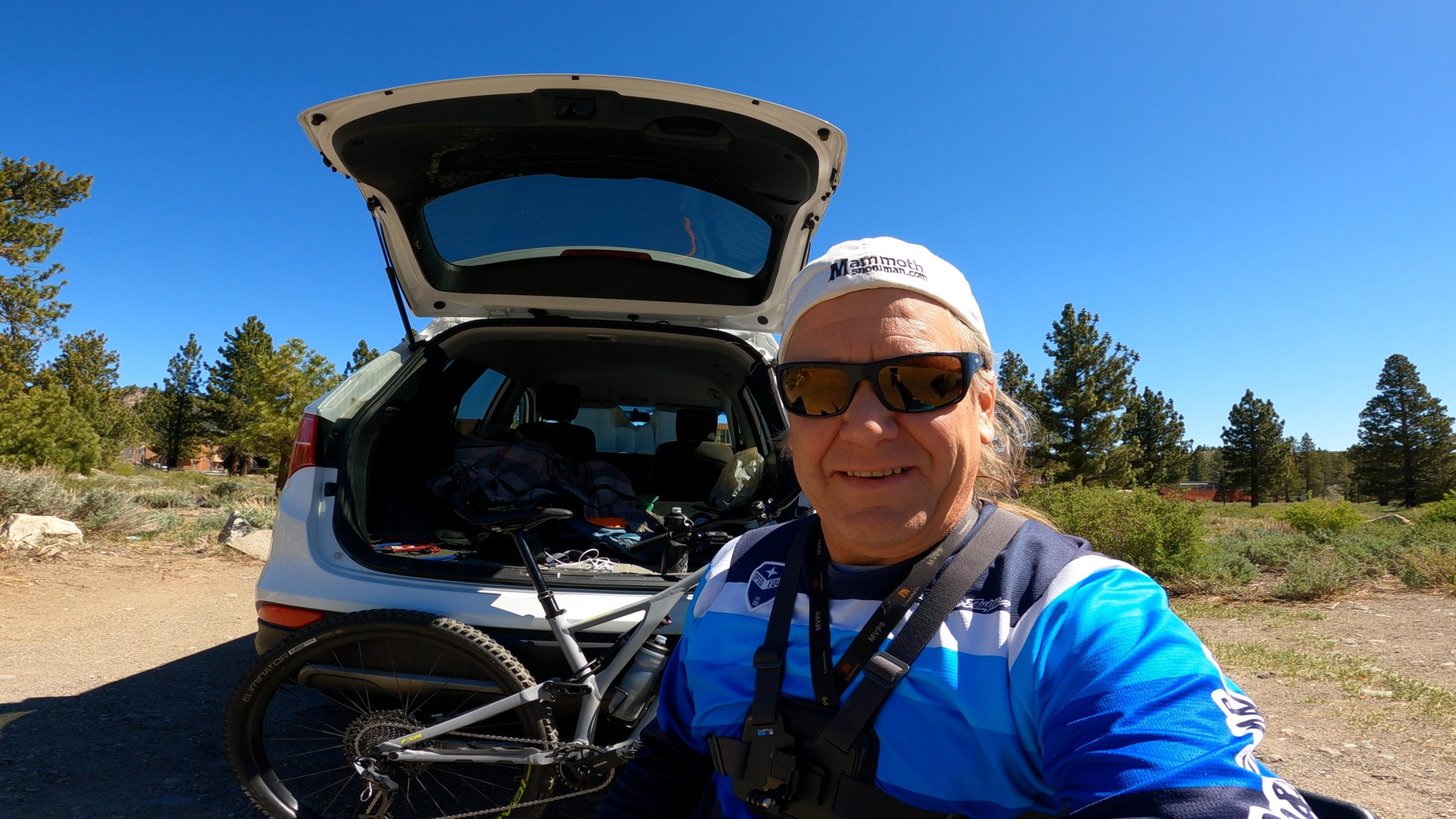 Mountain Biking out of Mammoth Lakes - May 2021 - Snowman