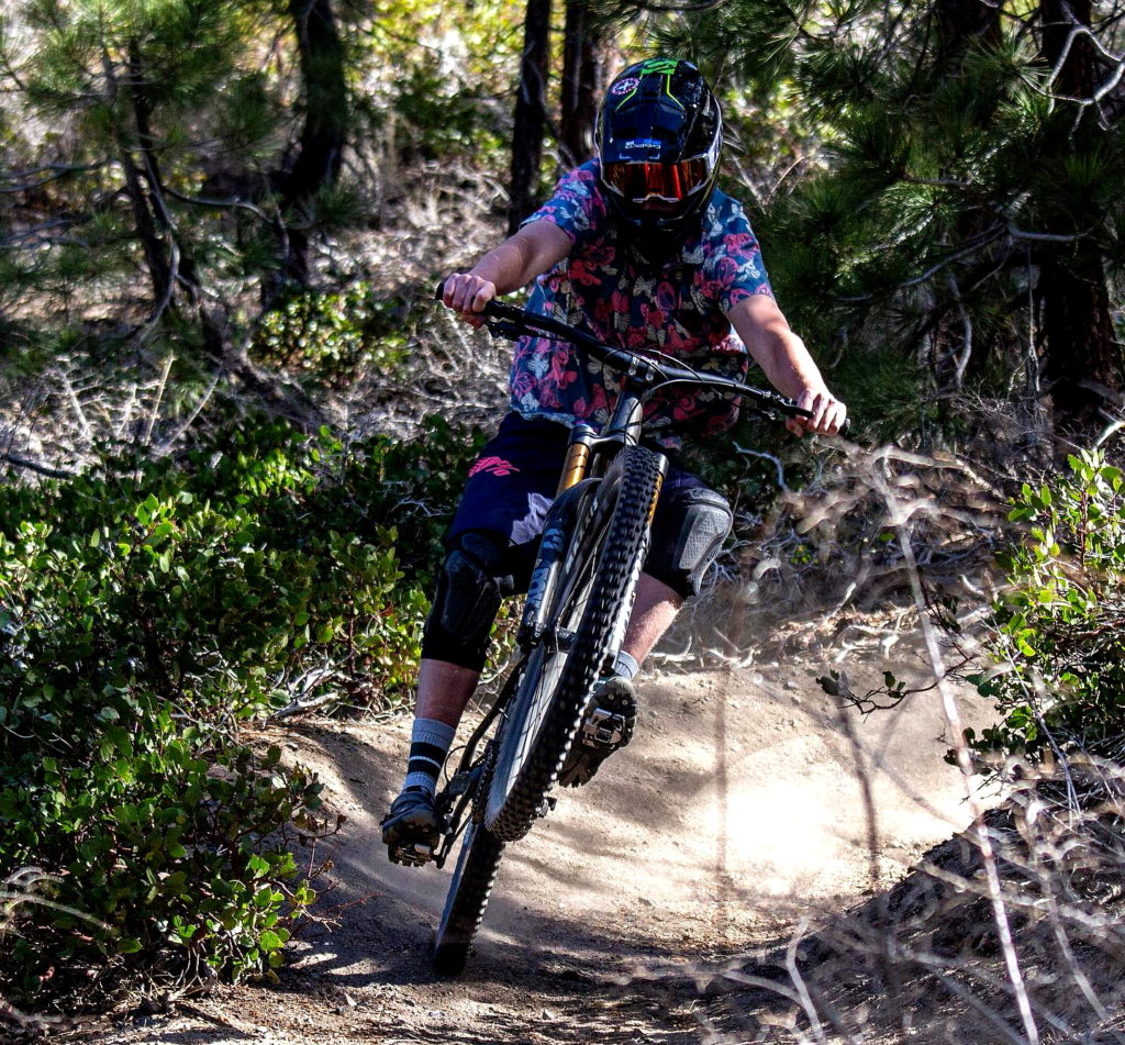 Quentin ripping it on the shady rest trails. Photo by Bryce