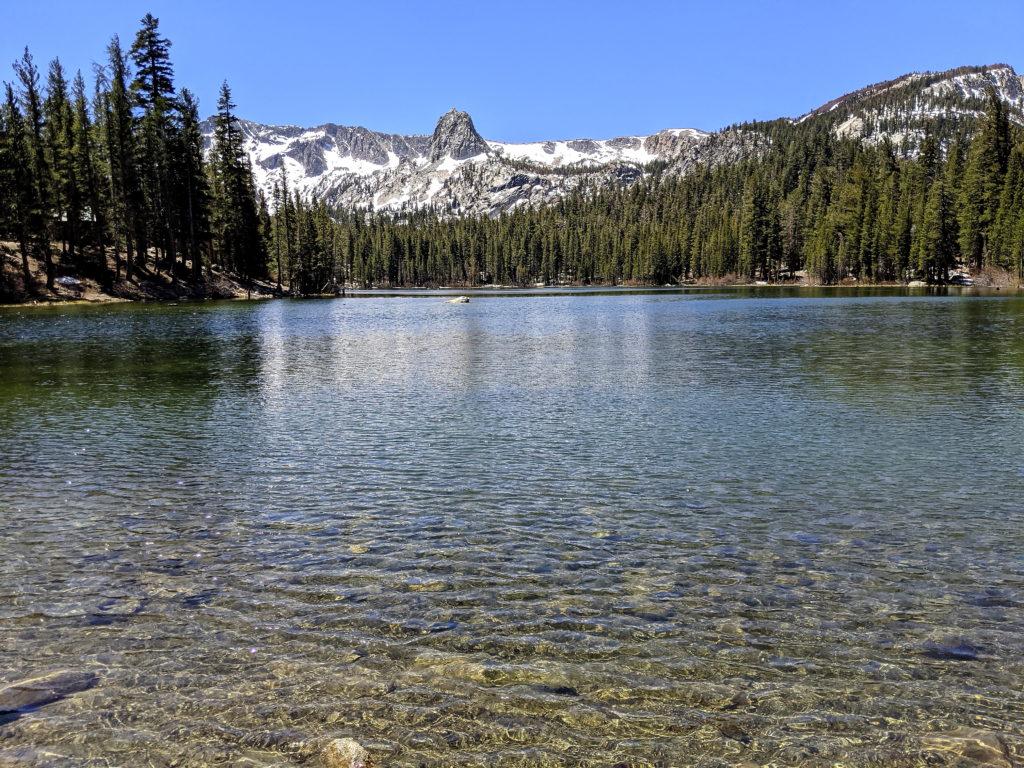 Lake Mamie in the Mammoth Lakes Basin - May 2021 - Photo Snowman