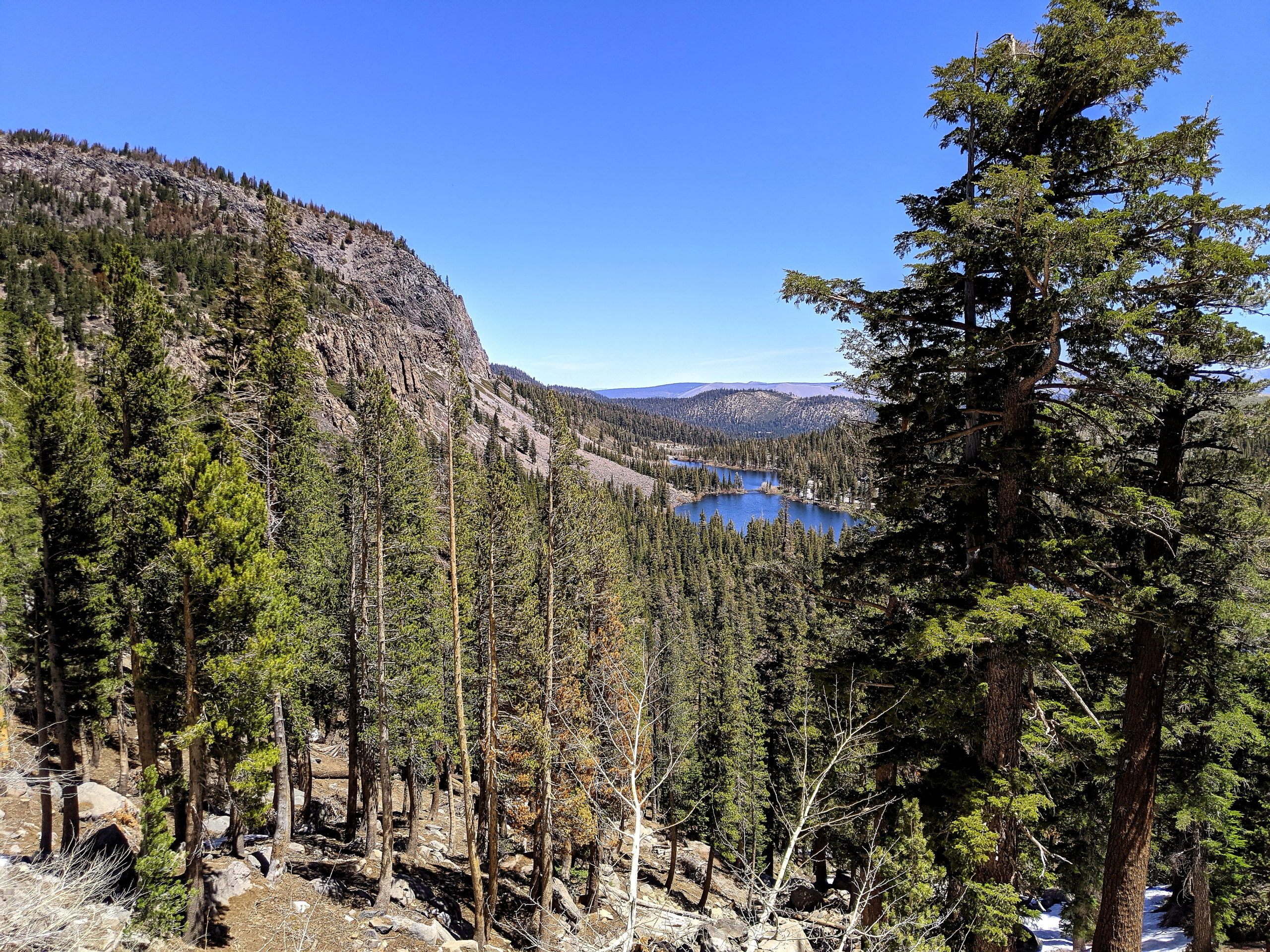 Mammoth Lakes Basin Scenic Point Looking at Twin Lakes