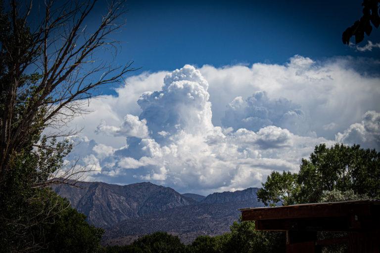 Thunder Storm Build Up near Bishop Ca