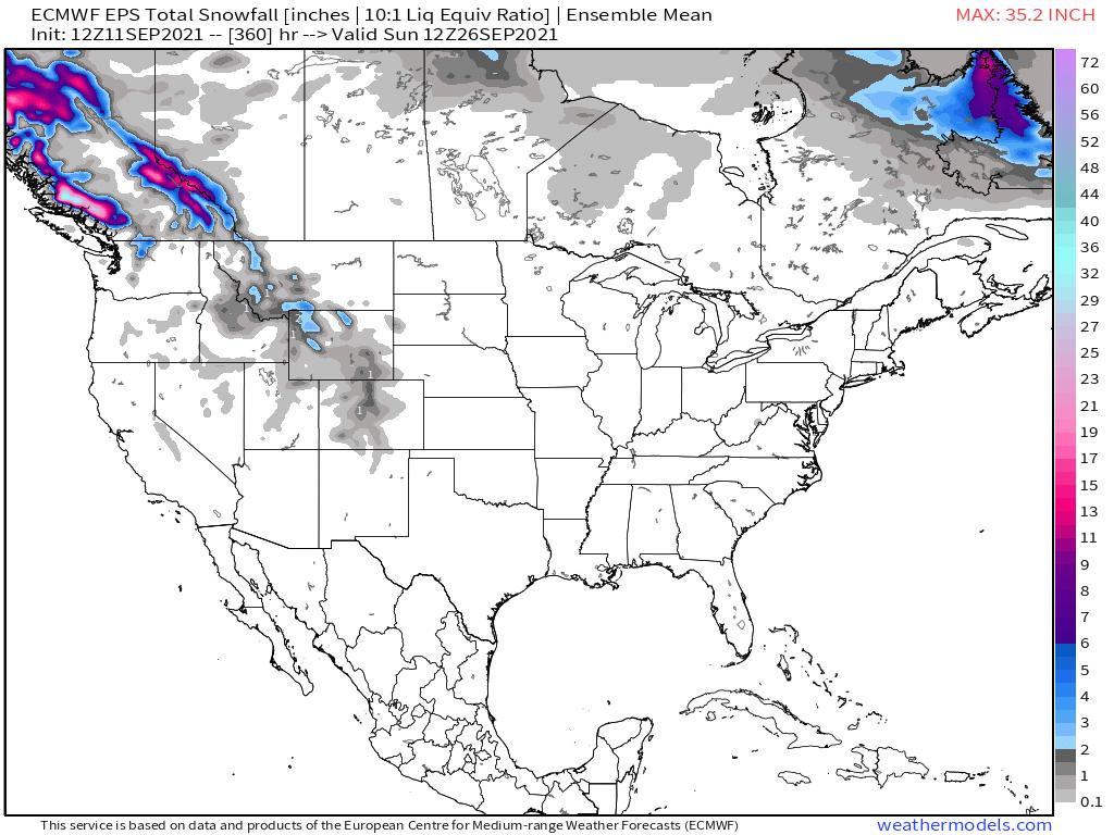 ECMWF EPS Total Snowfall