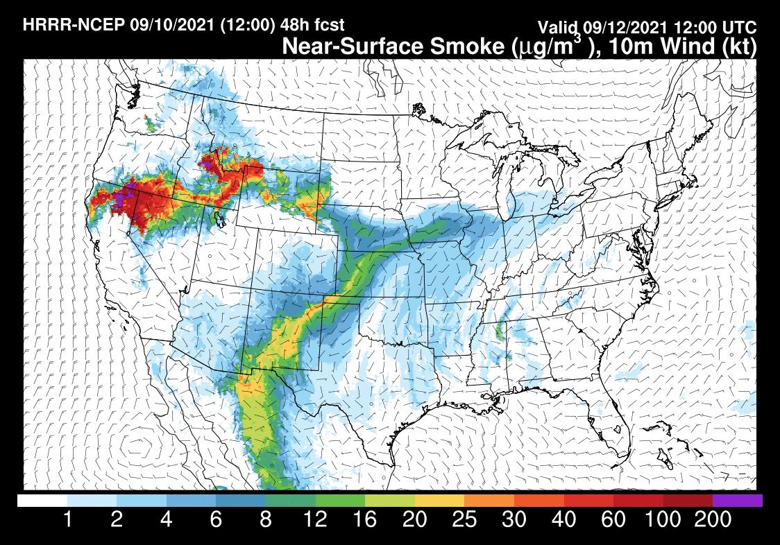 Forecasted Air Quality on Sunday looks Good!